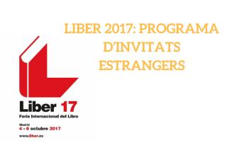 Liber 2017: Programa d'invitats estrangers